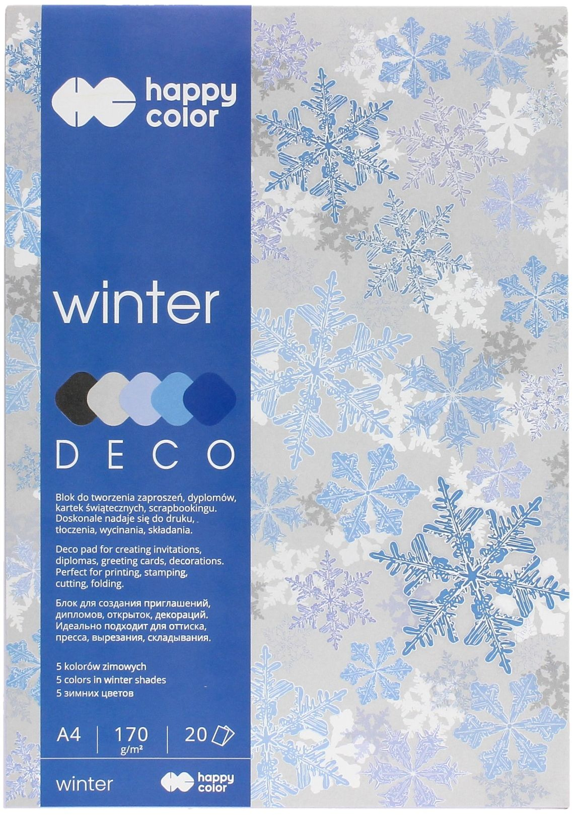 Blok Deco A4/20 5kol 170g Winter Happy Color