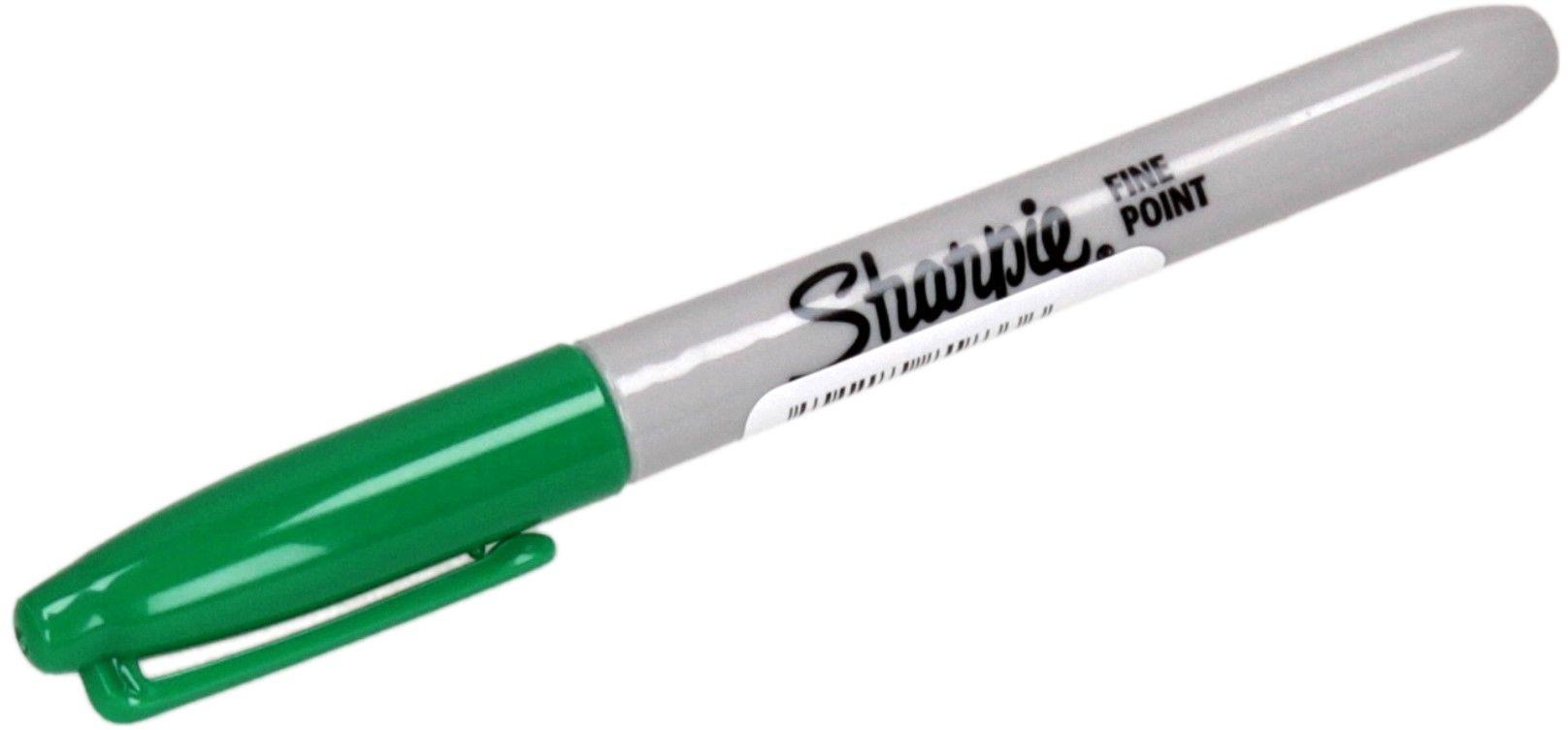 Marker permanentny 1.00mm zielony okrągły Sharpie Fine