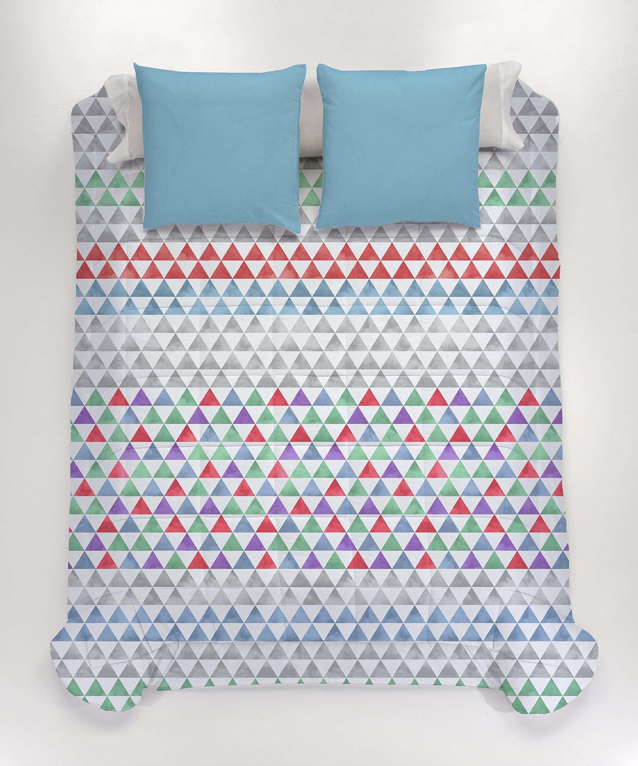 Style Javier Larrainzar Bologna kołdra pikowana, z mikrofibry, niebieska, łóżko małżeńskie, 205 x 135 x 3 cm