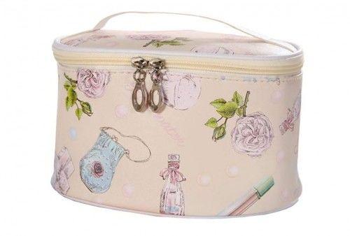 Kosmetyczka kuferek z lusterkiem Provence