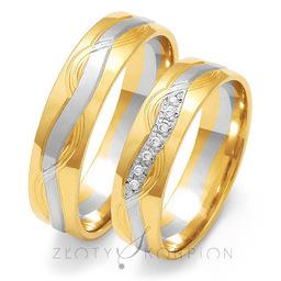 Obrączki ślubne Złoty Skorpion  wzór Au-OE201