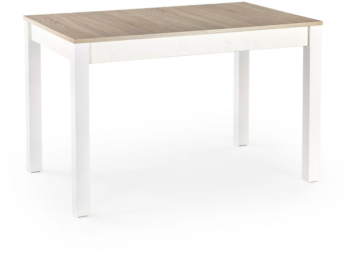 MAURYCY stół dąb sonoma / biały (118-158x75 cm) Halmar