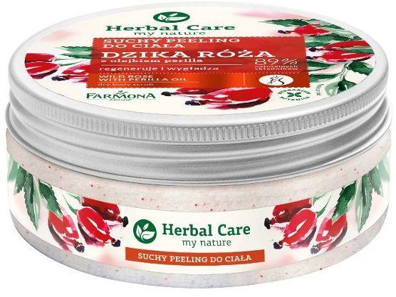 Herbal Care Suchy peeling do ciała DZIKA RÓŻA 220g