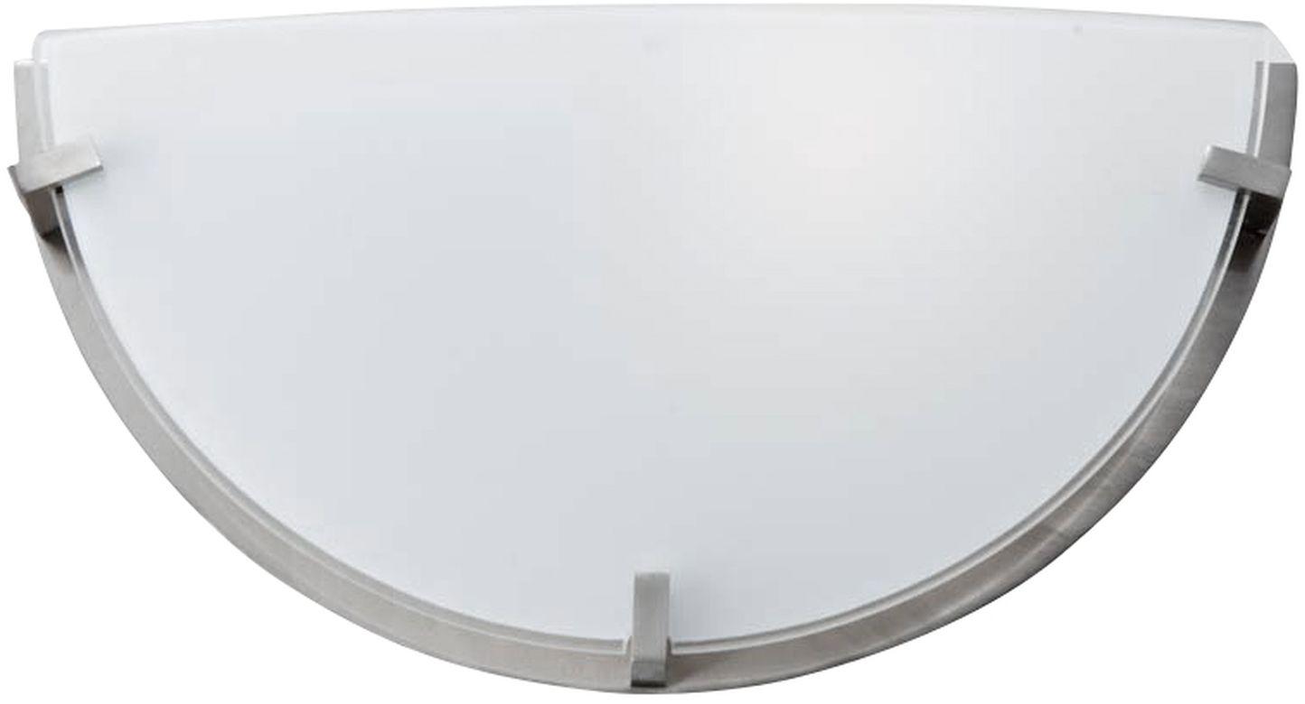 Candellux FRENA 11-12807 kinkiet lampa ścienna satyna nikiel szklany klosz mleczny 1X60W E27 29,5cm
