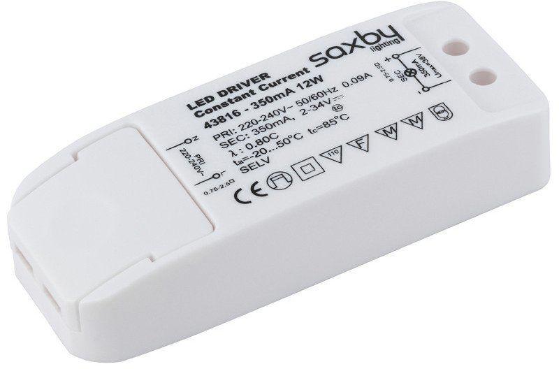 Transformator 350mA 12W 43816 - Saxby - SPRAWDŹ RABATY 5-10-15-20 % w koszyku