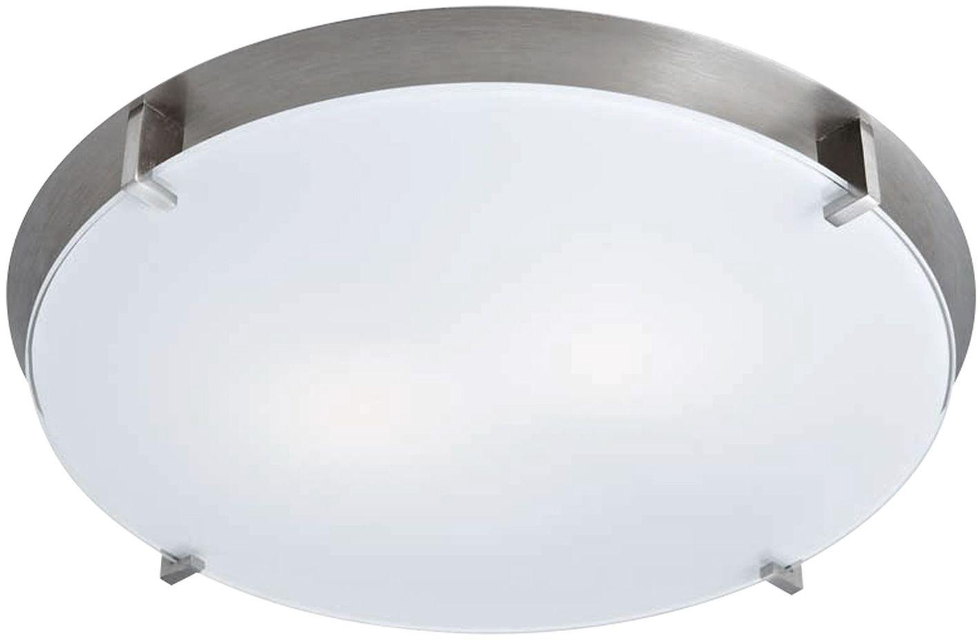Candellux FRENA 12-05410 plafon lampa sufitowa satyna nikiel szklany klosz mleczny 1X60W E27 30cm