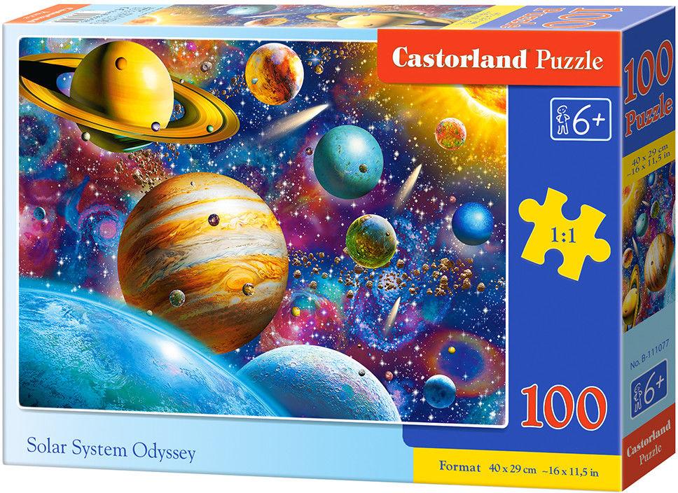 Puzzle Castor 100 - Planety i ich księżyce, Solar System Odyssey