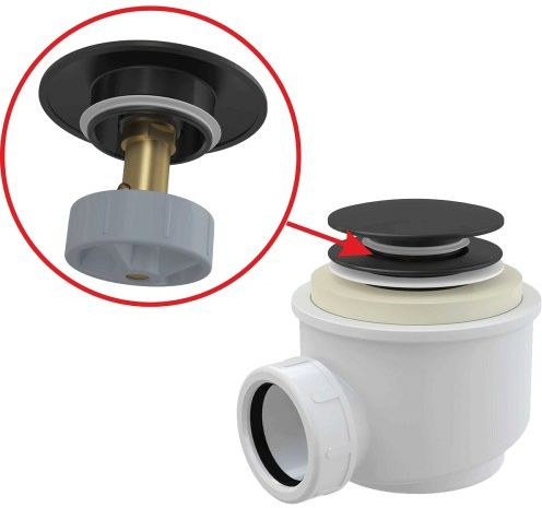 Syfon brodzikowy CLIK/CLAK 50 mm czarny-mat