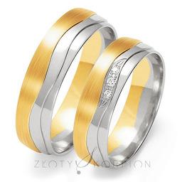 Obrączki ślubne Złoty Skorpion  wzór Au-OE202