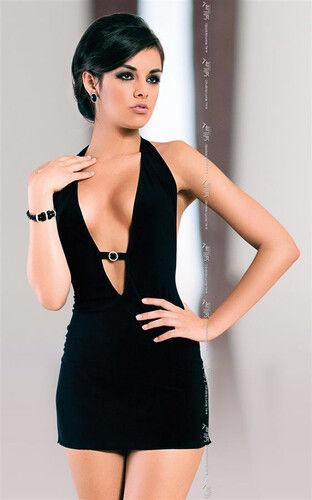Czarna Sukienka Mini Marika M/L 710997