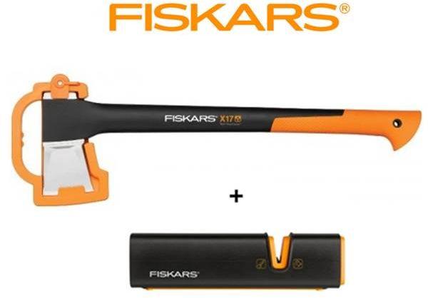 FISKARS Siekiera rozłupująca X17 - średnia (M) + Ostrzałka Fiskars Xsharp