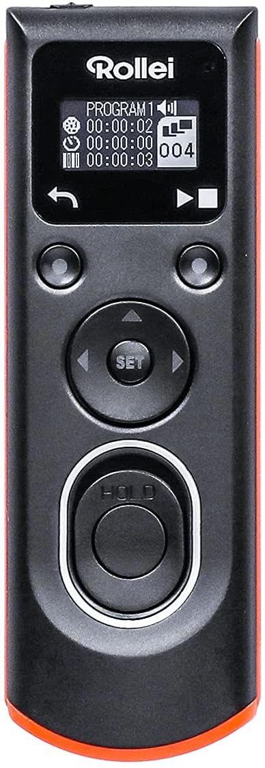 Rollei Kabelowy wyzwalacz aparatu Nikon  umożliwia zdalne wyzwalanie migawki, długotrwałe oświetlenie, zdjęcia seryjne i interwałowe zdjęcia aparatu Canon DSLM/DSLR, podświetlany wyświetlacz OLED