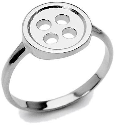 Staviori pierścionek guzik, srebro 0,925. średnica korony ok. 12 mm.