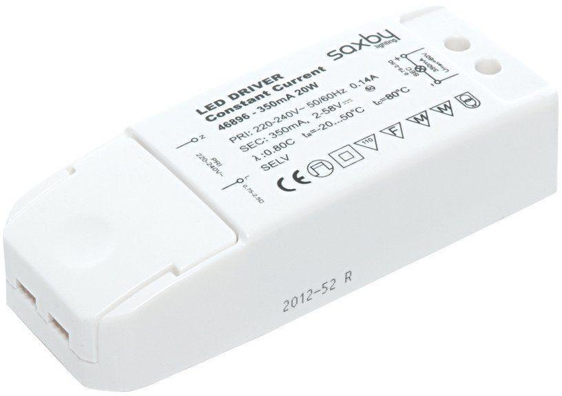 Transformator 350mA 20W 46896 - Saxby - SPRAWDŹ RABATY 5-10-15-20 % w koszyku