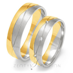Obrączki ślubne Złoty Skorpion  wzór Au-OE203