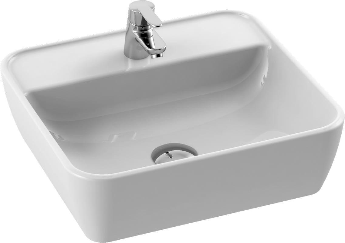 CeraStyle umywalka One, prostokątna 46x42 cm, otwór na baterię 076300-u