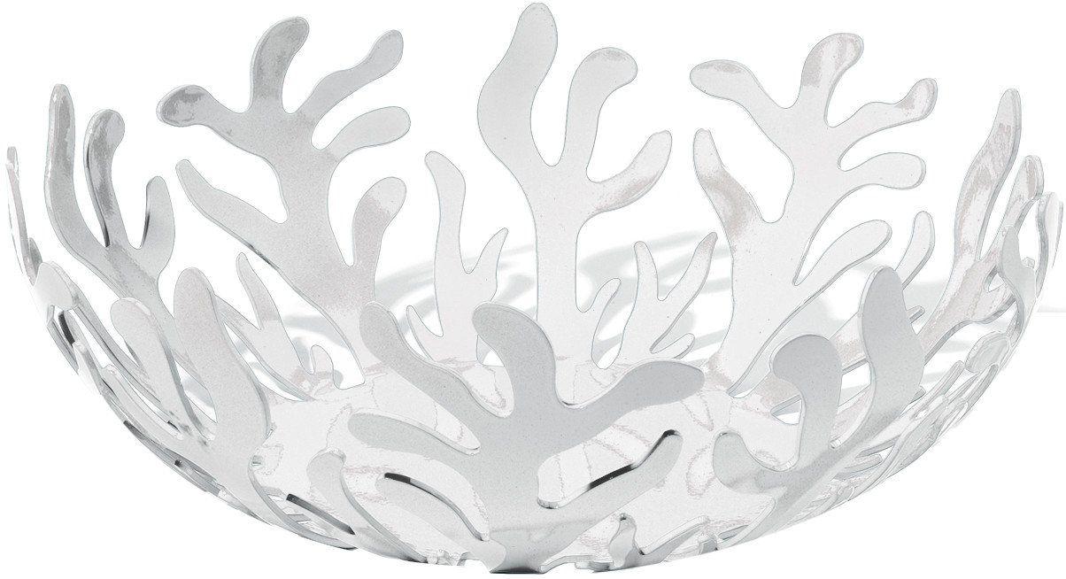 Alessi Mediterraneo ESI01/29 W - designerska miska na owoce ze stali szlachetnej i żywicy epoksydowej, biała