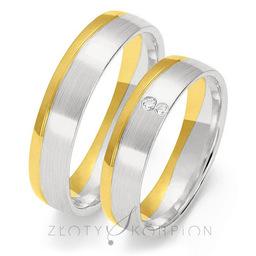 Obrączki ślubne Złoty Skorpion  wzór Au-OE204
