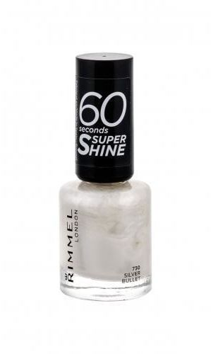 Rimmel London 60 Seconds Super Shine lakier do paznokci 8 ml dla kobiet 730 Silver Bullet