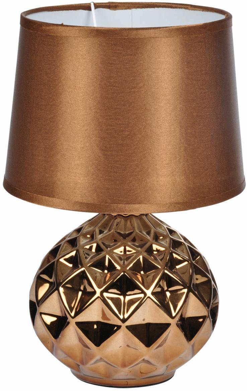 Homea 6LCE121CU lampa, ceramika, 40 W, miedziana, średnica 20H29,5 cm