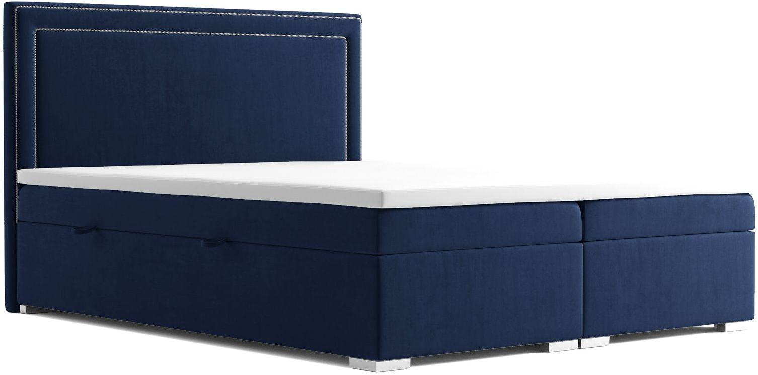 Podwójne łóżko boxspring Soho 160x200 - 58 kolorów