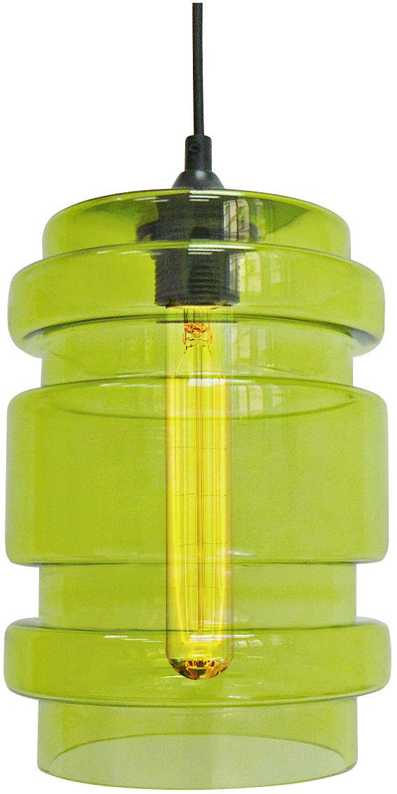 Candellux DECORADO 31-36650 lampa wisząca szklany klosz barwiony zielony 1X60W E27 17 cm