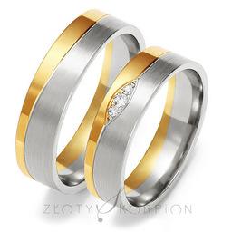 Obrączki ślubne Złoty Skorpion  wzór Au-OE205