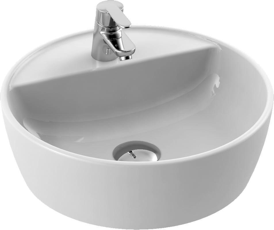 CeraStyle umywalka One, okrągła Ø42 cm, otwór na baterię 076400-u