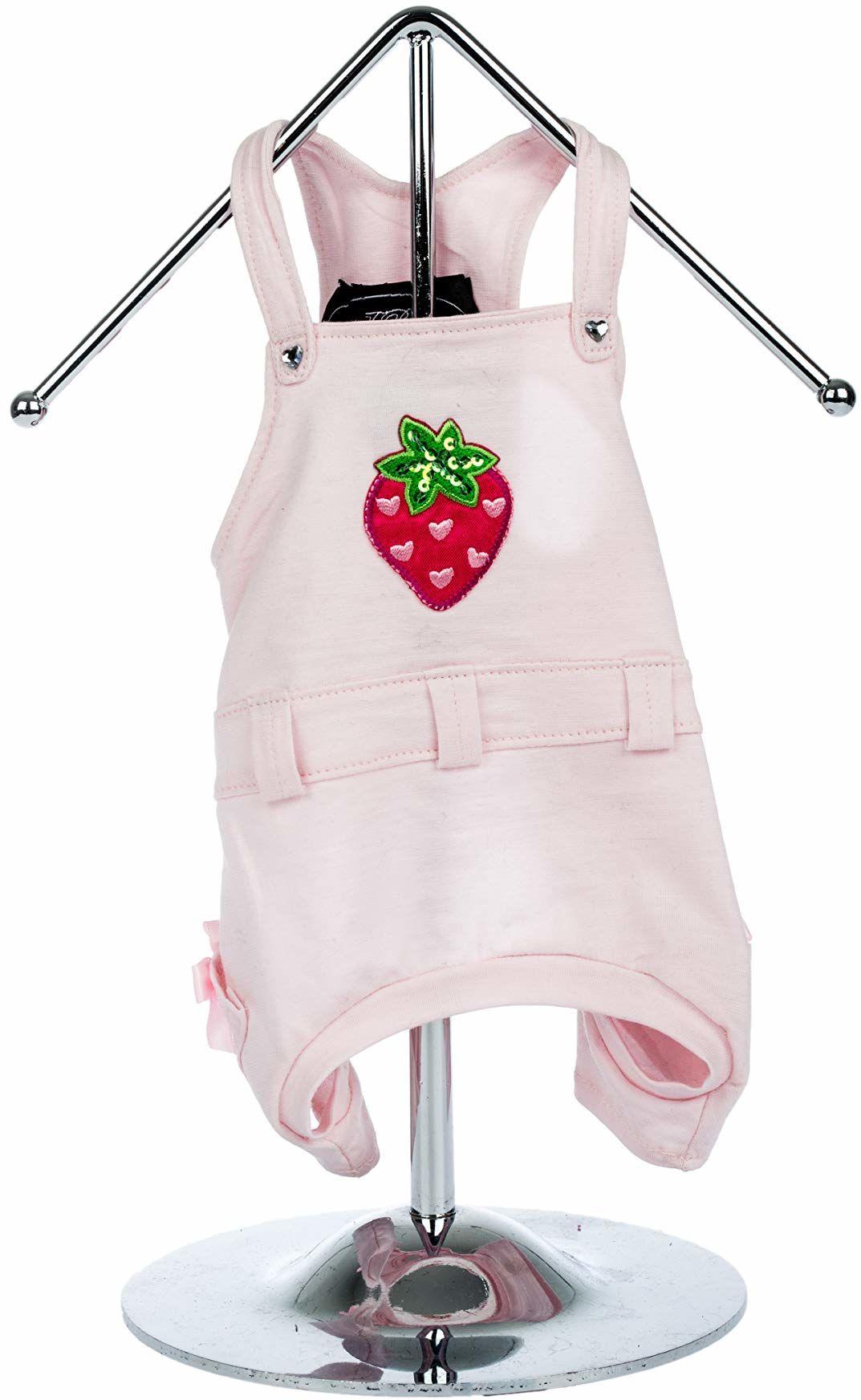 Trilly All Brilli 15-Malva spodnie ogrodniczki Malva z truskawką i sercami Swarovskiego, aplikacja termiczna, XS, różowe