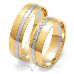 Obrączki ślubne Złoty Skorpion  wzór Au-OE206