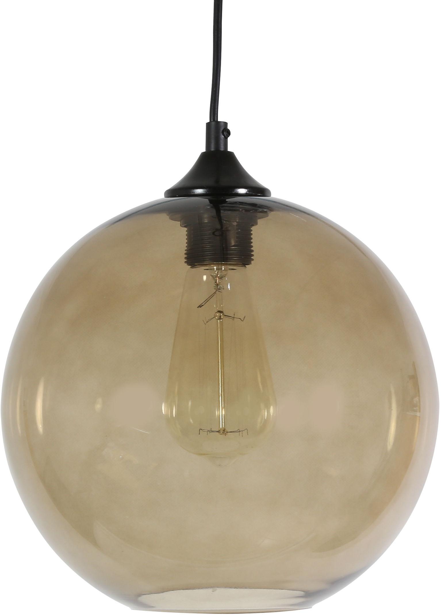 Candellux EDISON 31-28259 lampa wisząca szklany klosz brązowy 1X60W E27 25cm