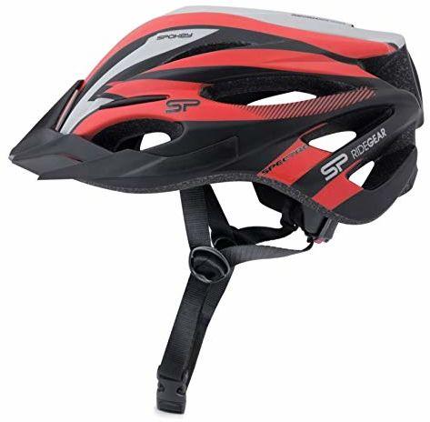 Spokey Unisex Spectro kask rowerowy, szary, rozmiar 58-61