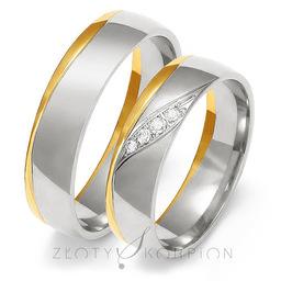 Obrączki ślubne Złoty Skorpion  wzór Au-OE207