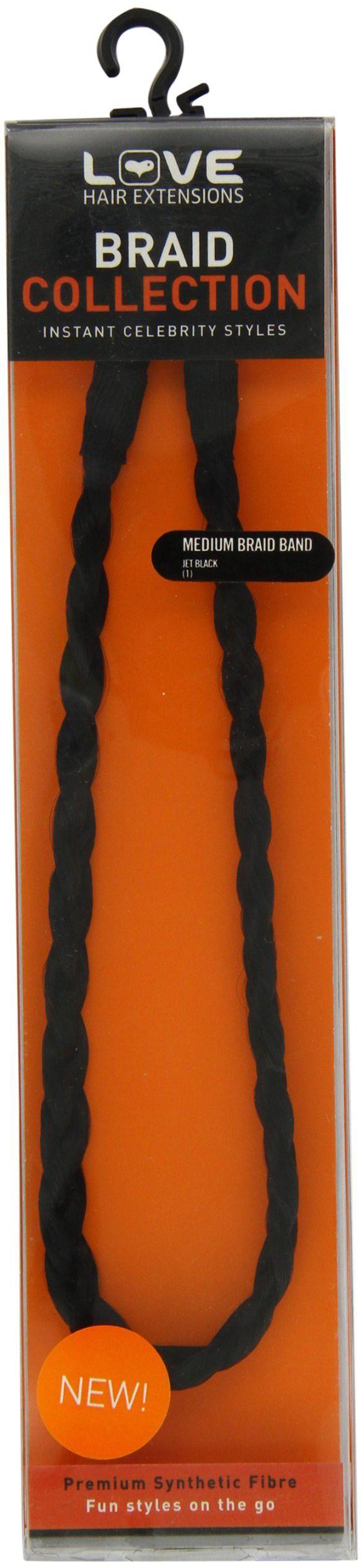 Love Hair Extensions opaska do włosów, pleciona, rozmiar M