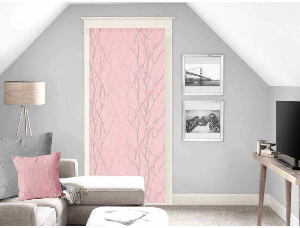 Soleil d''ocre Liane zasłona, woal, zazdrostka, poliester, różowa, 90 x 200 cm