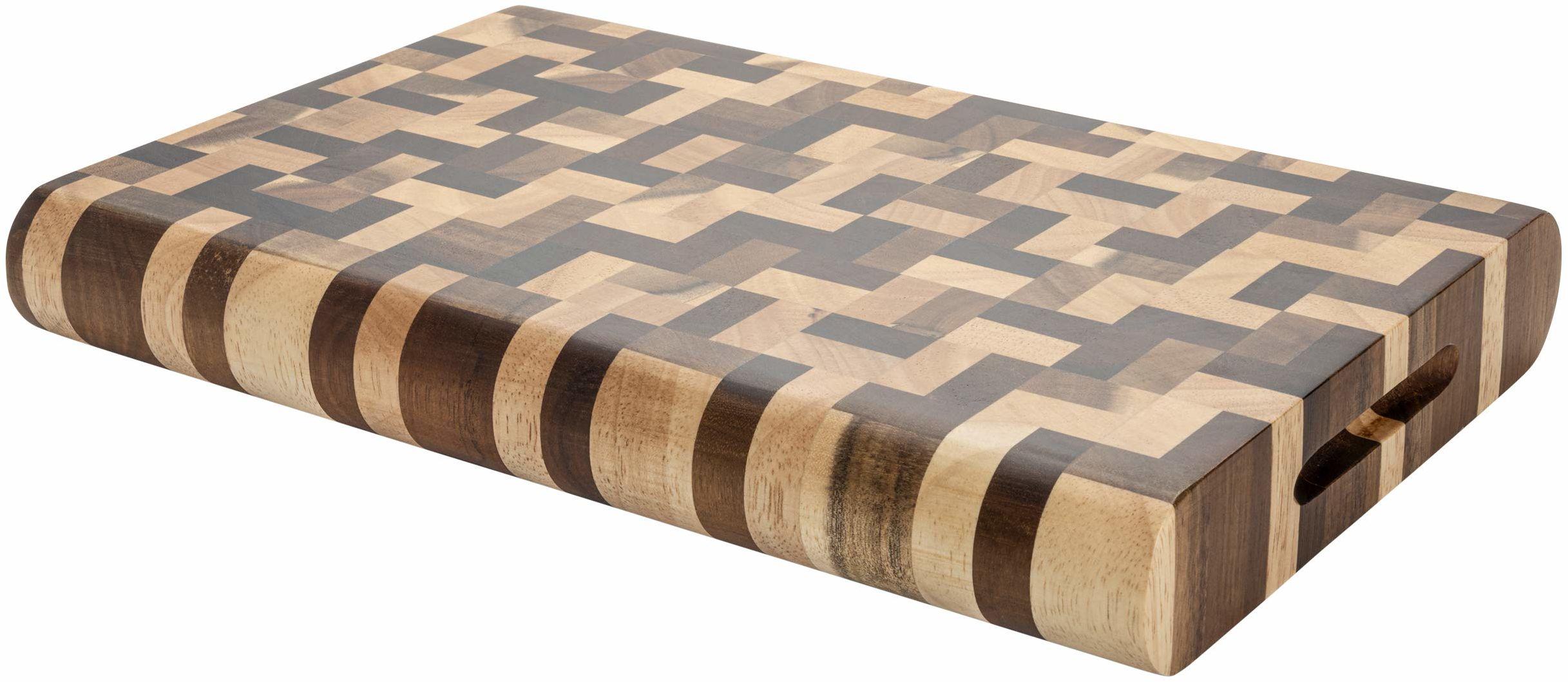 Grunwerg Rockingham Forest deska do krojenia z drewna akacjowego, węglowana akacja i drewno kauczukowe, prostokątna, 30 x 20 cm