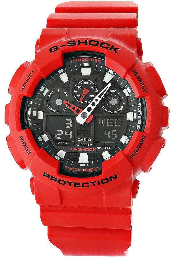 Zegarek Męski CASIO G-SHOCK GA-100B-4AER 20 Bar Do nurkowania