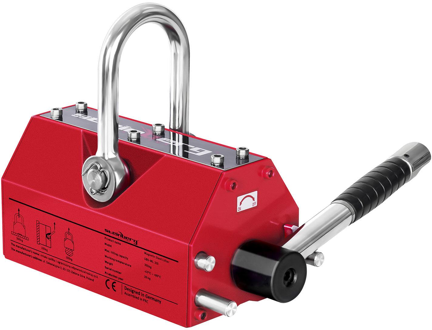 Podnośnik magnetyczny - 300 kg - Steinberg Systems - SBS-ML 300 - 3 lata gwarancji/wysyłka w 24h