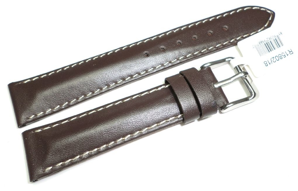 Skórzany pasek do zegarka 18 mm JVD R15802-18