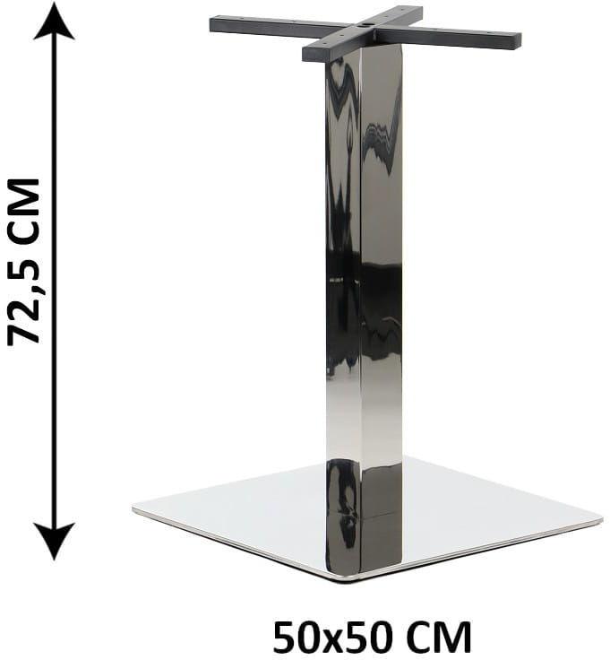 Podstawa stolika SH-3002-6/P, 50x50 cm, stal nierdzewna polerowana (stelaż stolika)