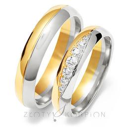 Obrączki ślubne Złoty Skorpion  wzór Au-OE208
