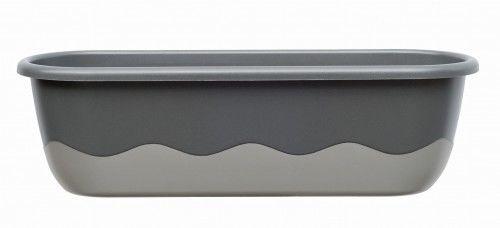 Doniczka 11L samonawadniająca 60x20x18cm antracyt MARETA