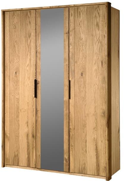 Szafa 3d dębowa Orio z lustrem Soolido Meble dębowe