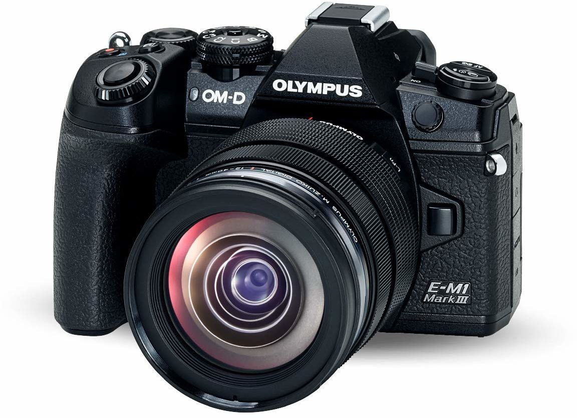 Olympus OM-D E-M1 Mark III Micro Four Thirds aparat systemowy zestaw z obiektywem M.Zuiko Digital ED 12-40 mm f2.8 PRO, czujnik 20 MP, 5-osiowa stabilizacja obrazu, wideo 4K, Wi-Fi, Bluetooth, czarny