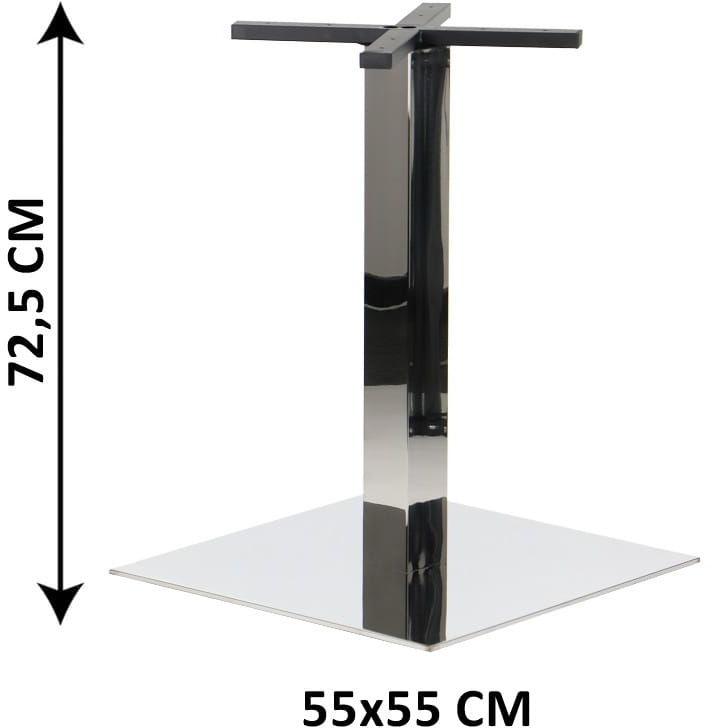 Podstawa stolika SH-3002-7/P, 55x55 cm, stal nierdzewna polerowana (stelaż stolika)