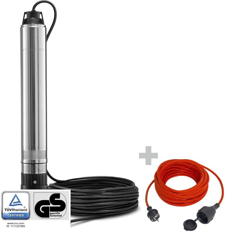 Pompa głębinowa TDP 750 E + Przedłużacz jakościowy 15 m / 230 V / 1,5 mm