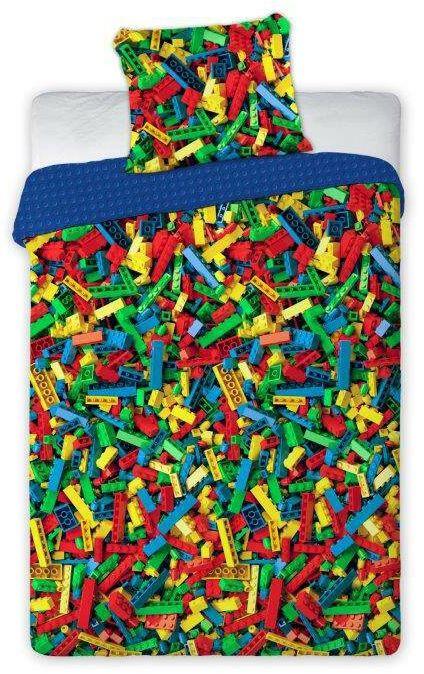 Pościel 160x200 dla dzieci wzór Klocki jak lego duże