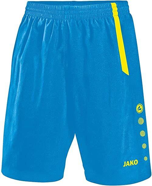 JAKO męskie spodnie sportowe Turin, niebieskie/neonowo-żółte, 140