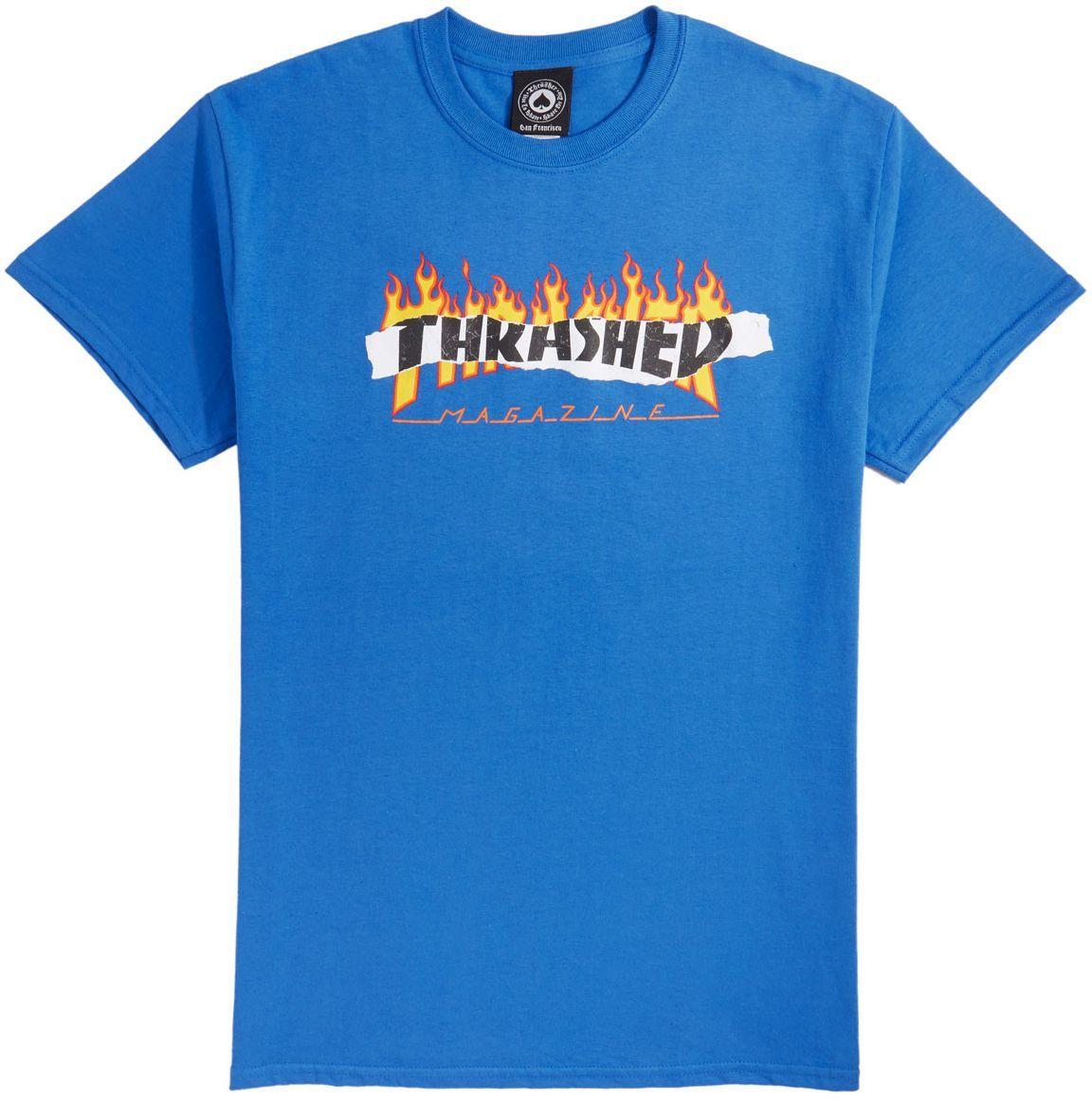 t-shirt męski THRASHER RIPPED Royal Blue