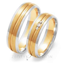 Obrączki ślubne Złoty Skorpion  wzór Au-OE209